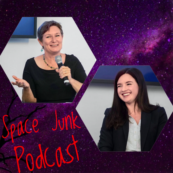 Space Junk Podcast Annie Handmer and Donna Lawler on branded image