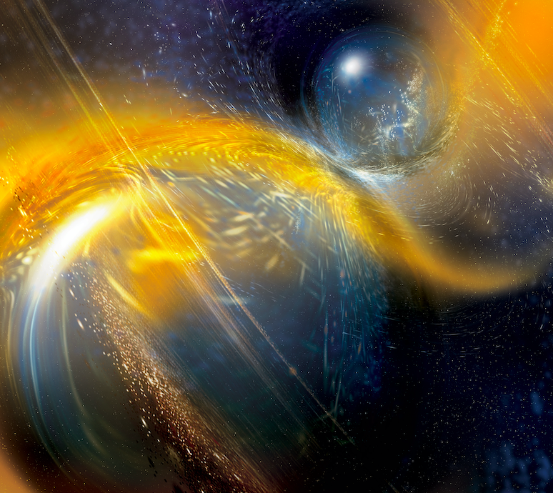 Artist impression of two neutron stars pre-merger