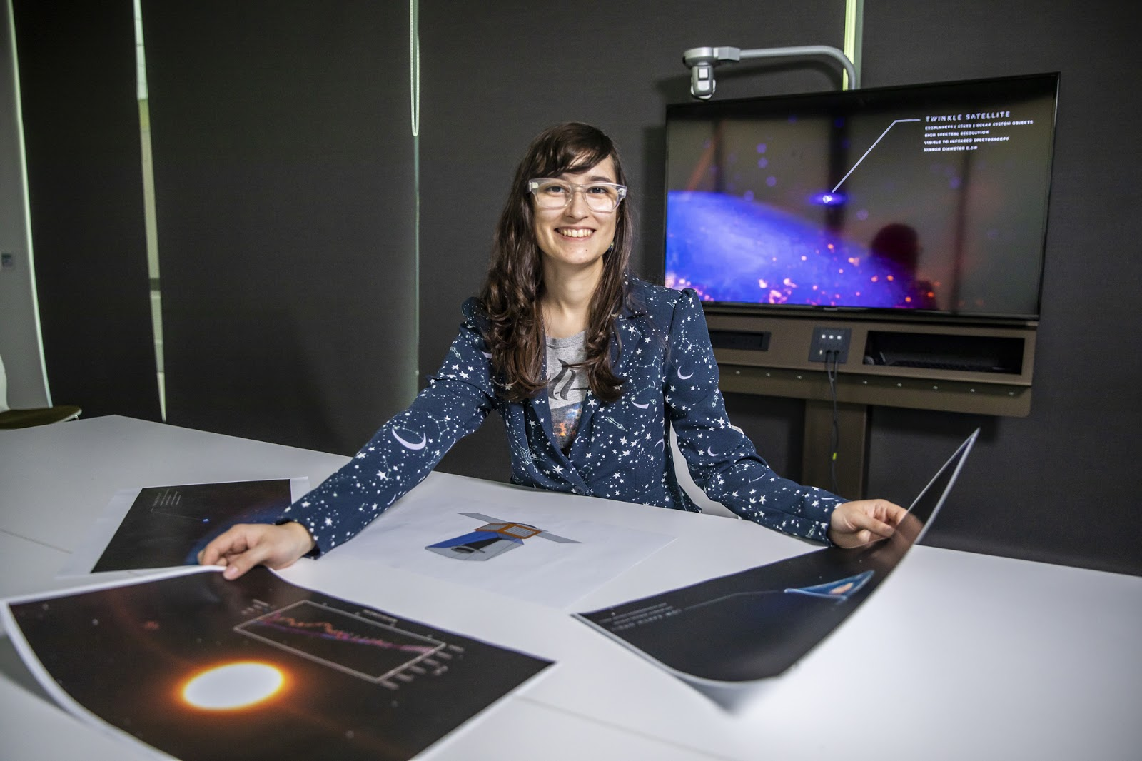 PhD student Nataliea Lowson will be play a key role in Australia's work with the Twinkle space telescope