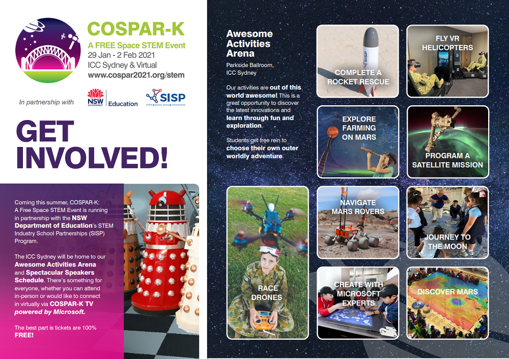 Get involved tile from COSPAR-K event